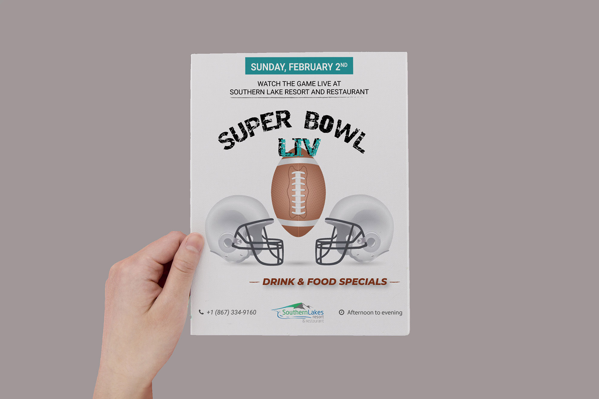 Flyer Super Bowl LIV - Marie Naudon